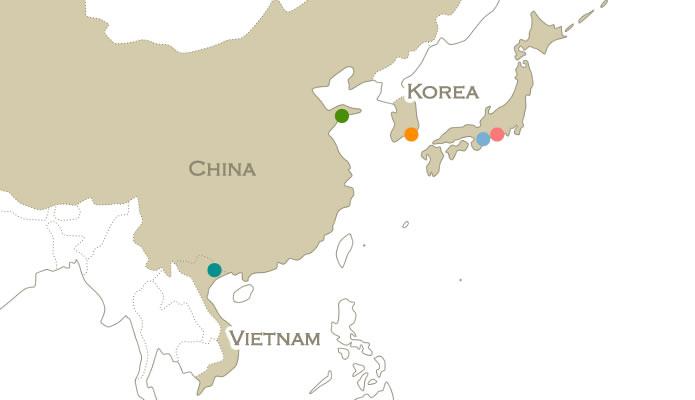 アジア拠点地図